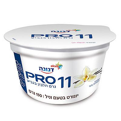 יוגורט דנונה PRO עם 11 גרם חלבון בטעם וניל